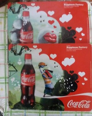 2 Targhe In Latta Coca Cola Happiness Factory