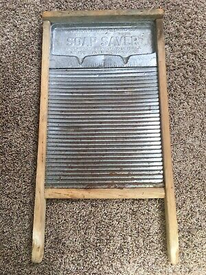 Rare Antique No. 198 National Washboard Co. Soap Saver  Pat. 1910's