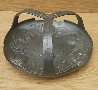 ART NOUVEAU LIBERTY & CO TUDRIC PEWTER FRUIT BASKET ARCHIBALD KNOX  044 c.1903