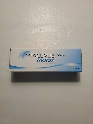 Acuvue 1-Day Moist 30-Pack with Lacreon, D -3.75 BC 8.5 Dia: 14.2