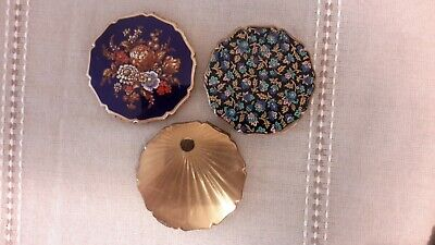 Vintage Stratton compacts lot of 3 enamel made in England