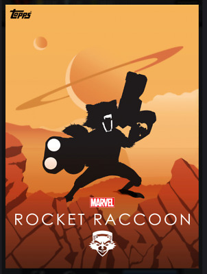 Topps Marvel Collect Card Trader Heroic Silhouettes Rocket Raccoon Composition