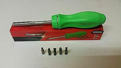 Snap On Ratcheting Screwdriver In Green..new.plus 5 Bits