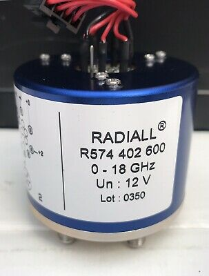 RADIALL R574 402 600 RF 0-18Ghz 12v  Microwave Coaxial
