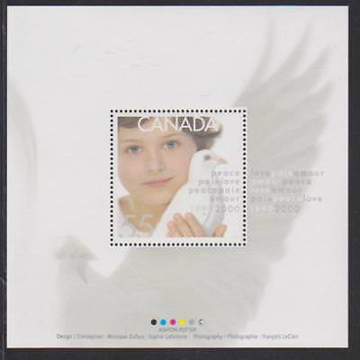 1999 Canada SC# 1813i Millennium Issue ( Dove and Child ) - S. S. Lot# 71 M-NH