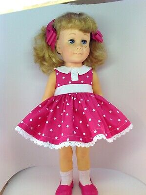 """Chatty Cathy """"Gabby Gabby"""" Toy Story inspired PINK dress NO DOLL"""
