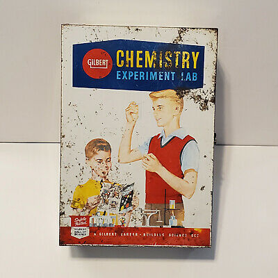 Vintage 1950's Gilbert Chemistry Experiment Lab Deluxe Set