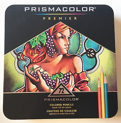 Prismacolor Premier Colored Pencils, Soft Core, 72-Count - Artist, Art Supplies