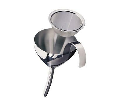 Cilio Stainless Steel Wine Funnel with Strainer, Silver