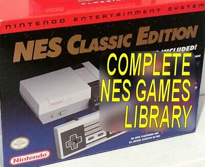 Nintendo NES Classic Complete Games Library +Tecmo Super Bowl 2019 MODDED HACKED
