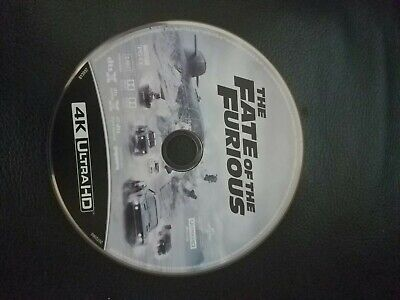 The Fate of the Furious (4K uhd  Disc only)like new. One disc only !!!!