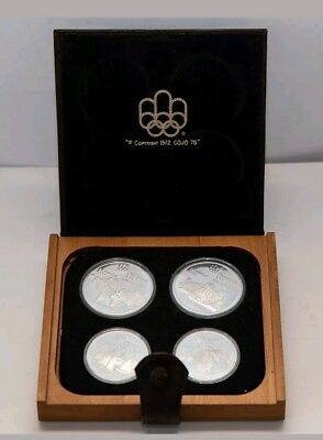 1976 Montreal Olympic Games 4 Coin Deluxe Silver proof coins Set #1 Geogr 60%OFF