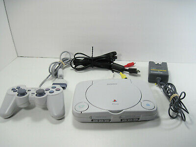 Sony Playstation Slim PS One Video Game White Console (SCPH-101) - Tested
