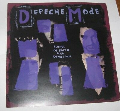 """DEPECHE MODE SONGS OF FAITH AND DEVOTION MUTE UK PROMO COVER ART 12""""x12"""""""