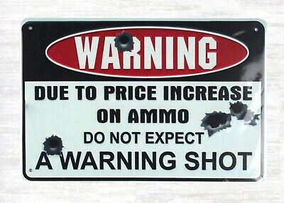 US Seller- metal garage signs do not expect warning shot tin metal sign