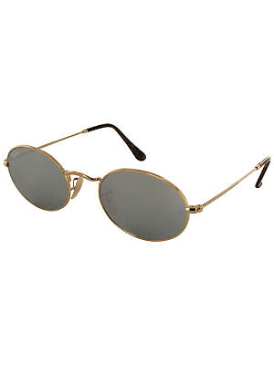 dcac88e67bc Ray Ban Unisex RB3547N Oval Flat Lenses Sunglasses, Gold/Silver Flash