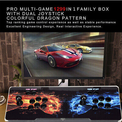 1299 Games in 1 Pandora's Box 5S Multiplayer Arcade Home Double Gamepad HDMI LED