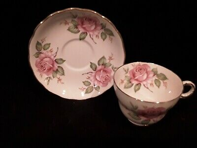 Melba Bone China Made In England Cabbage Roses Tea Cup And Saucer