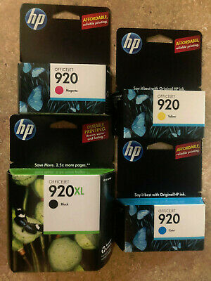 GENUINE NEW HP 920 Ink Cartridge 4-Pack for Officejet 6000 6500 7000 7500