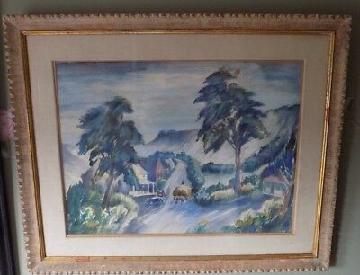 WILLIAM SANGER - c.1920s - 1930s Watercolor Painting -  WPA Artist NYC Margaret