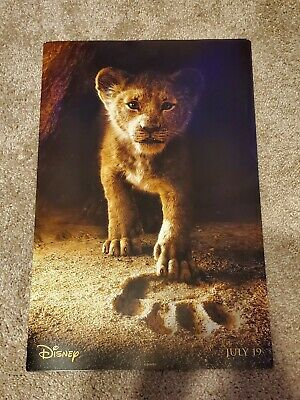 "Disney - THE LION KING 2019 Promotional Movie Poster ""Young Simba"" 11x17"""