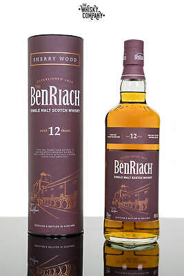 BenRiach Aged 12 Years Sherry Wood Finish Speyside Single Malt Scotch Whisky ...