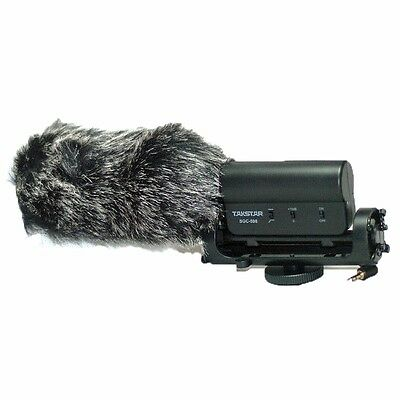 Black Furry Outdoor Shotgun Microphone Cover Windshield For TAKSTAR SGC-598 Mic