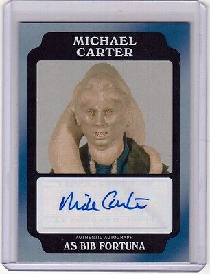 MICHAEL CARTER as BIB FORTUNA 2016 Topps Star Wars Rogue One Auto Autograph /50