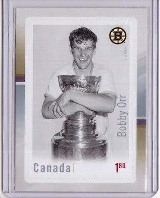 BOBBY ORR 2017 Canada Post Stamp Souvenir Sheet Hockey Legends Card-Sized Bruins