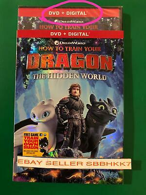 How to Train Your Dragon The Hidden World DVD + DIGITAL AUTHENTIC READ LISTING
