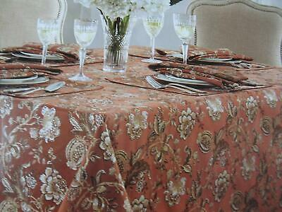 """Waterford Linens Chelsea Tablecloth 90/"""" Round Damask Black NEW"""