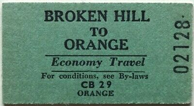 NSWR Ticket - BROKEN HILL to ORANGE - Economy Single