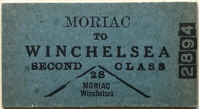 VR Ticket - MORIAC to WINCHELSEA - 2nd Class Single