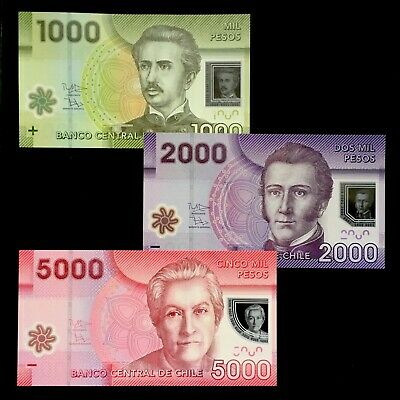 Polymer P-New Date 5000 5,000 Pesos 2013 UNC Chile
