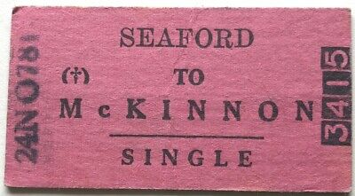 VR Ticket - SEAFORD to McKINNON - 1978 Single