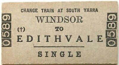 VR Ticket - WINDSOR to EDITHVALE (Change Train at South Yarra) - Single