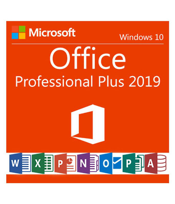 Microsoft Office 2019 Professional Plus Genuine Lifetime License for Windows 10