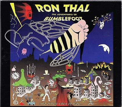 Bumblefoot The Adventures Of Signed Cd +7 Trk Ron Thal Sons Of Apollo Autograped