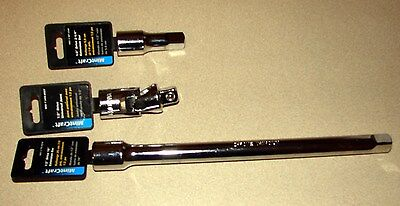 "Brand New Mintcraft 1/2"" Drive 2-1/4"" & 10"" Extension Bar & Universal Joint"