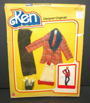 """1979 Mattel Designer Originals """"Paint the Town Red"""" Outfit for Ken Doll, NRFB"""