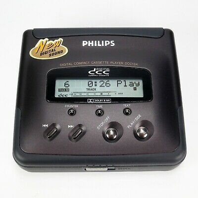 Philips DCC 134 Portable Digital Compact Cassette Player - Like New - Boxed