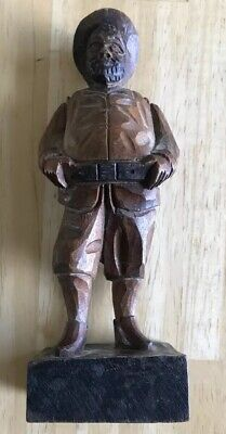 Vintage Ouro Artesania Sancho Panza Carved Wood Figure Made in Spain 6""