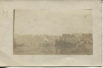 Real Photo Postcard RPPC WW1 32nd Division Award Ceremony in Germany Famous Div.