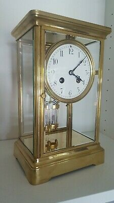 Good French Four Glass 8day striking Mantel Clock