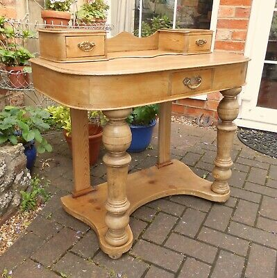 Chateau Chic Stripped Victorian Duchesse Console Table~Small Desk~Dressing Table