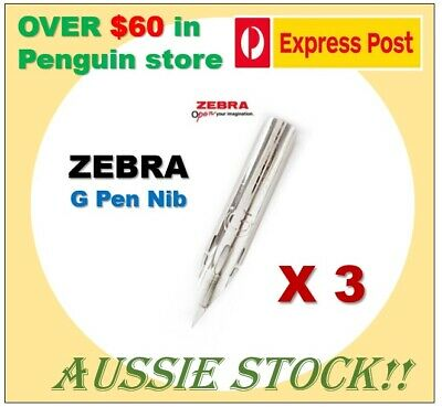 3 x ZEBRA G pen nib for writing, Manga and Comic drawing Japan