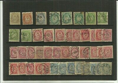 Norway 1877 used range for sorting