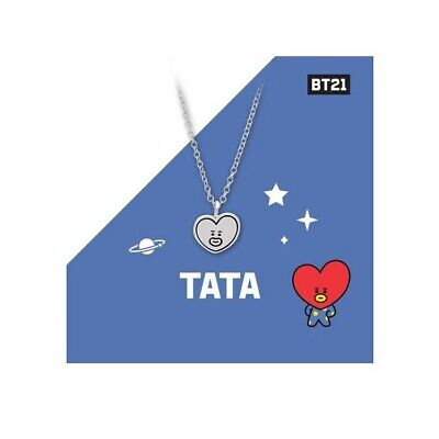 Kpop BTS BT21 Necklace TATA KOYA MANG Pendant Fashion Jewelry With Box Tracked