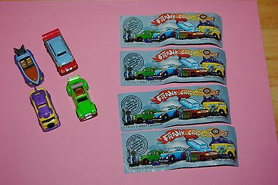 AA: Kinder serie complete ALL franks crazy car garage705951 705954 705960 705957