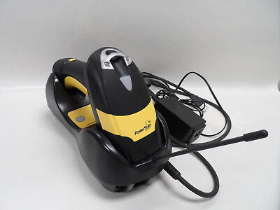 Datalogic Powerscan PM8300 Barcode Scanner M8300 910Mhz RB w/Cradle Battery p/s